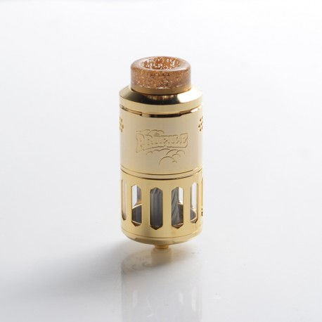 Authentic Wotofo Profile RDTA / RDA Rebuildable Dripping Tank Vape Atomizer w/ BF Pin - Gold, 6.2ml, 25mm Diameter