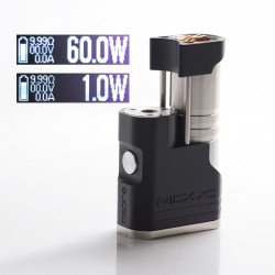 Authentic Aspire MIXX 60W VV VW Variable Wattage Vape Box Mod - Tuxedo, Aluminum + Stainless Steel, 1~60W, 1 x 18350 / 18650