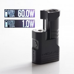 Authentic Aspire MIXX 60W VV VW Variable Wattage Vape Box Mod - Jet Black, Aluminum + Stainless Steel, 1~60W, 1 x 18350 / 18650