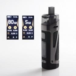 Authentic SMOKTech SMOK SCAR-P3 80W 2000mAh VW Box Mod Pod System Vape Starter Kit - Black, Zinc Alloy, 5~80W