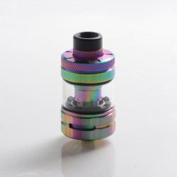 Authentic Hellvape & Wirice Launcher Sub Ohm Tank Clearomizer Vape Atomizer - Rainbow, 4.0 / 5.0ml, 0.15 / 0.21ohm, 25mm