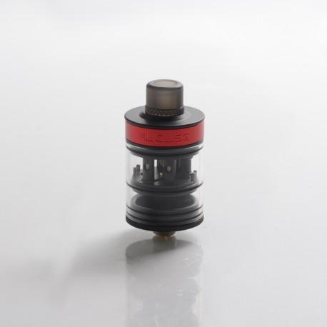 Authentic Auguse Khaos RDTA Rebuildable Dripping Tank Vape Atomizer w/ BF Pin - Black, SS + Glass / PC, 22mm, 2.0ml