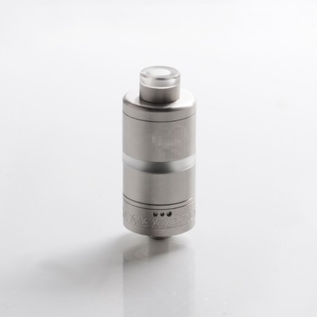 Haar Style RTA Rebuildable Tank Vape Atomizer - Silver, 316 Stainless Steel + PC, 4.0ml, 22mm Diameter