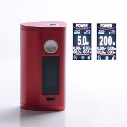 Authentic Asmodus Minikin 3 200W Touch Screen TC VW Variable Wattage Box Mod - Red, 5~200W, 2 x 18650