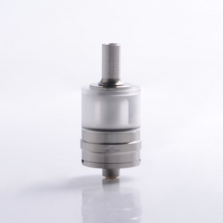 SXK Monarchy J3S Style MTL RTA Rebuildable Tank Vape Atomizer - Silver, 316 Stainless Steel + PCTG, 2.5ml, 22mm Diameter
