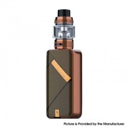 [Ships from HongKong] Authentic Vaporesso LUXE II 220W VW Box Mod Kit with NRG-S Tank - Bronze Stripe, 2 x 18650, 5~220W, 8.0ml