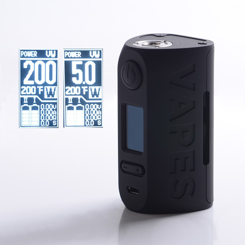 Buy Authentic Vapor Storm Puma 200W TC VW Vape Box Mod Full Black