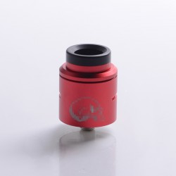 C2MNT COSMONAUT V2 Style RDA Rebuildable Dripping Vape Atomizer w/ BF Pin - Red, Stainless Steel + Aluminum, 24mm Diameter