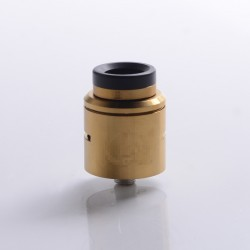 C2MNT COSMONAUT V2 Style RDA Rebuildable Dripping Vape Atomizer w/ BF Pin - Gold, Stainless Steel, 24mm Diameter