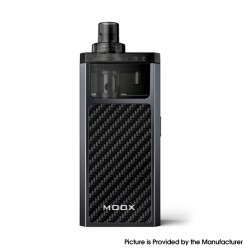 Authentic ZQ MOOX Pod System Vape Starter Kit - Grey Gun Metal, 1100mAh, 3.0ml, 0.6ohm / 1.2ohm