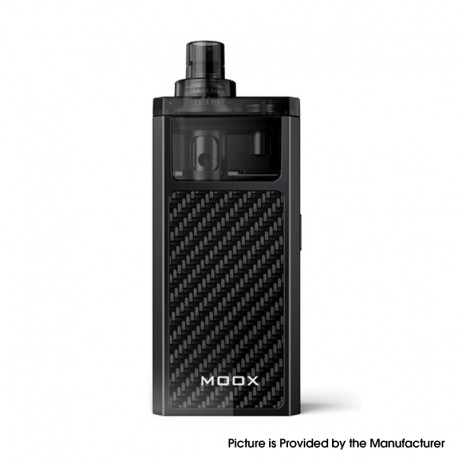 Authentic ZQ MOOX Pod System Vape Starter Kit - Classic Black, 1100mAh, 3.0ml, 0.6ohm / 1.2ohm