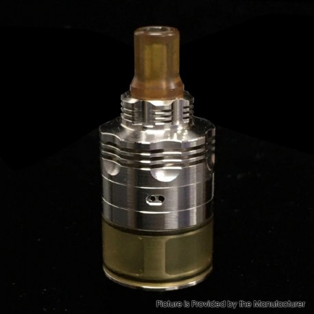SXK 415 S61 Genesis Atomizer Style RDTA Rebuildable Dripping Tank Atomizer - Silver, 316 Stainless Steel + PEI, 22mm