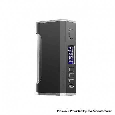 Authentic ZQ Essent DNA75C 75W TC VW Vape Box Mod - Gun Metal, Variable Wattage 1~75W, 1 x 20700 / 18650