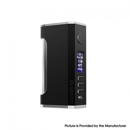 Authentic ZQ Essent DNA75C 75W TC VW Vape Box Mod - Black, Variable Wattage 1~75W, 1 x 20700 / 18650