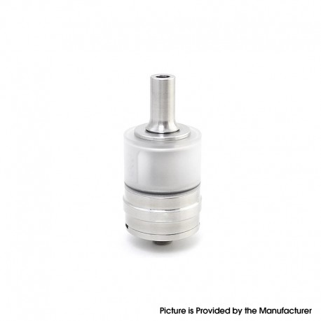 Monarchy J3S Style MTL RTA Rebuildable Tank Vape Atomizer - Silver, Stainless Steel + PCTG, 2.5ml, 22mm Diameter