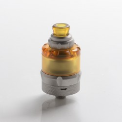 Authentic asMODus Anani V2 MTL RTA Rebuildable Tank Vape Atomizer - Matte Silver, Stainless Steel + PEI, 24.5mm Diameter