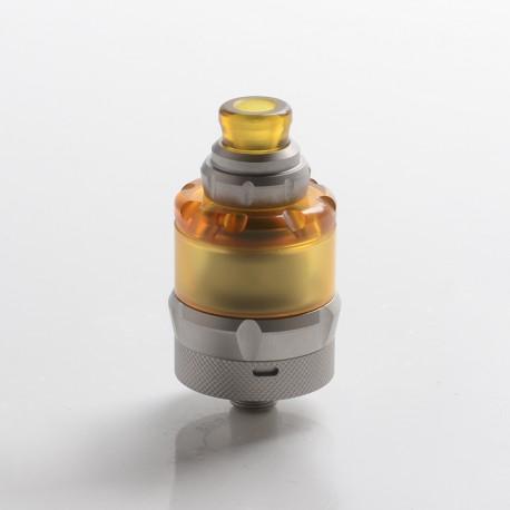 Authentic asMODus Anani V2 MTL RTA Rebuildable Tank Vape Atomizer - Matte Silver, Stainless Steel + PEI, 24.5mm Diameter