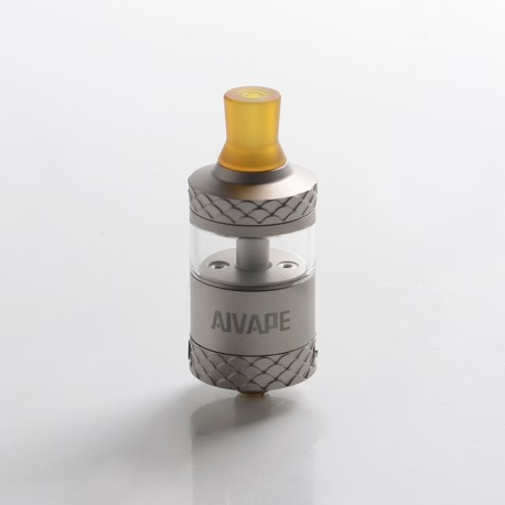 Authentic AIVAPE Scale MTL RTA Rebuildable Tank Vape Atomizer - Silver, Stainless Steel + Glass, 2.0 / 4.0ml, 22mm Diameter