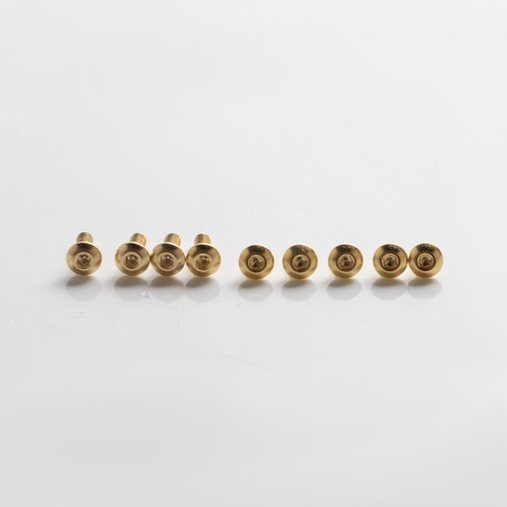 SXK Replacement Colorful Screw Set Kit for SXK BB 70W / DNA 60W Style Box Mod Kit - Gold, Stainless Steel (9 PCS)