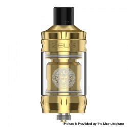 Authentic GeekVape Zeus Nano Sub Ohm Tank Clearomizer Vape Atomizer - Gold, 2.0ml / 3.5ml, 0.4ohm / 0.6ohm, 22mm Diameter