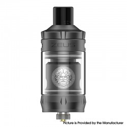 Authentic GeekVape Zeus Nano Sub Ohm Tank Clearomizer Vape Atomizer - Gun Metal, 2.0ml / 3.5ml, 0.4ohm / 0.6ohm, 22mm Diameter