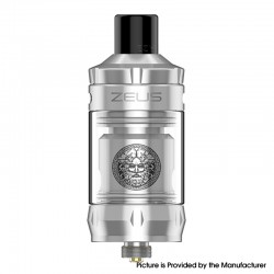 Authentic GeekVape Zeus Nano Sub Ohm Tank Clearomizer Vape Atomizer - Silver, 2.0ml / 3.5ml, 0.4ohm / 0.6ohm, 22mm Diameter
