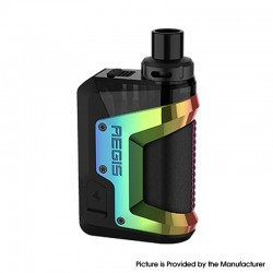 Authentic GeekVape Aegis Hero 45W VW Pod System Vape Starter Kit - Rainbow, 1200mAh, 5~45W, 4.0ml, 0.4ohm / 0.6ohm
