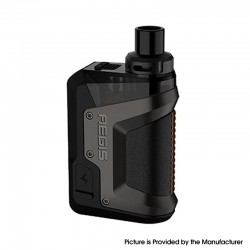 Authentic GeekVape Aegis Hero 45W VW Pod System Vape Starter Kit - Gun Metal, 1200mAh, 5~45W, 4.0ml, 0.4ohm / 0.6ohm