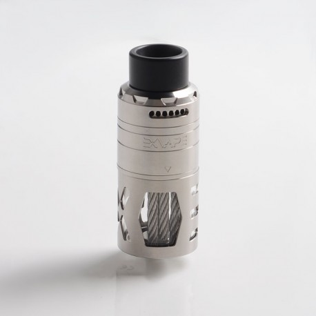 Authentic Exvape eXpromizer TCX DL RDTA Rebuildable Dripping Tank Vape Atomizer - Brushed, SS + Glass + POM, 7.0ml, 25mm Dia.