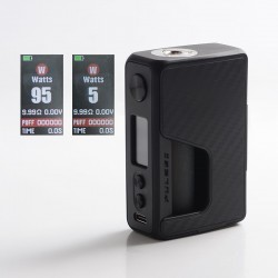 Authentic Vandy Vape Pulse V2 II 95W TC VW BF Squonk Squeeze Vape Box Mod - Black Carbon Fiber, 5~95W, 1 x 18650 / 20700 / 21700