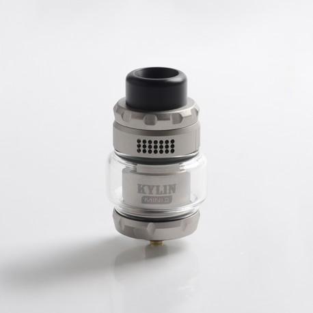 Authentic Vandy Vape Kylin Mini V2 RTA Rebuildable Tank Vape Atomizer - Frosted Grey, 3.0 / 5.0ml, 24.4mm Diameter