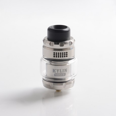 Authentic Vandy Vape Kylin Mini V2 RTA Rebuildable Tank Vape Atomizer - Silver, 3.0 / 5.0ml, 24.4mm Diameter