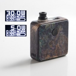 Authentic SXK Bantam Revision 30W VW Vape Box Mod Kit w/o 18350 Battery - Purple, 5~30W, 1 x 18350, SEVO-30, Stabilized Wood