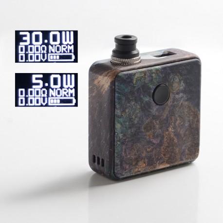 Authentic SXK Bantam Revision 30W VW Vape Box Mod Kit w/o 18350 Battery - Purple, 5~30W, 1 x 18350, SEVO-30, Stabilized Wood