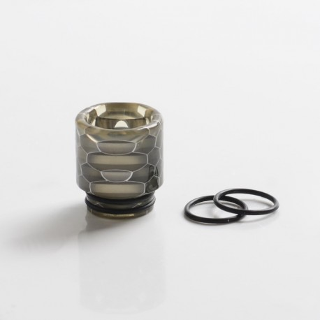 Replacement 810 Drip Tip w/ O-Ring for RDA / RTA / RDTA / Sub Ohm Tank Vape Atomizer - Grey, Resin