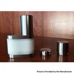 Stratum Balance Style 60W TC VW Vape Box Mod - White + Silver, POM + Stainless Steel, 1~60W, 1 x 18350 / 18650