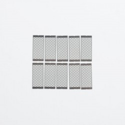 Authentic Exvape eXpromizer TCX DL RDTA Replacement Mesh Coils Sheet - Silver, Ni80, 0.18ohm (10 PCS)