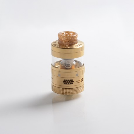 Authentic Steam Crave Aromamizer Plus V2 DL RDTA Rebuildable Dripping Tank Vape Atomizer Advanced Kit - Gold, 8/16ml, 30mm Dia.