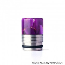 Authentic REEWAPE AS318 810 Drip Tip for RDA / RTA / RDTA / Sub Ohm Tank Vape Atomizer - Purple Gold, Resin & SS, 20mm