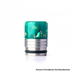 Authentic REEWAPE AS318 810 Drip Tip for RDA / RTA / RDTA / Sub Ohm Tank Vape Atomizer - Green Gold, Resin & SS, 20mm