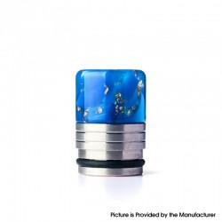 Authentic REEWAPE AS318 810 Drip Tip for RDA / RTA / RDTA / Sub Ohm Tank Vape Atomizer - Blue Gold, Resin & SS, 20mm