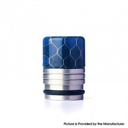 Authentic REEWAPE AS318S 810 Drip Tip for RDA / RTA / RDTA / Sub Ohm Tank Vape Atomizer - Blue, Resin & SS, 20mm