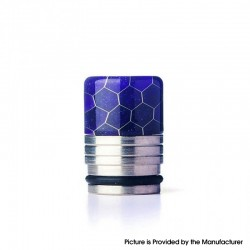 Authentic REEWAPE AS318S 810 Drip Tip for RDA / RTA / RDTA / Sub Ohm Tank Vape Atomizer - Purple, Resin & SS, 20mm