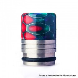 Authentic REEWAPE AS318S 810 Drip Tip for RDA / RTA / RDTA / Sub Ohm Tank Vape Atomizer - Purple Red Green, Resin & SS, 20mm