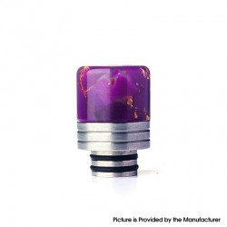 Authentic REEWAPE AS319 510 Drip Tip for RDA / RTA / RDTA / Sub Ohm Tank Vape Atomizer - Purple Gold, Resin & SS, 20mm