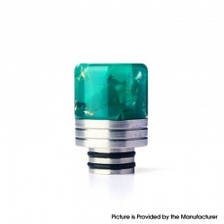 Authentic REEWAPE AS319 510 Drip Tip for RDA / RTA / RDTA / Sub Ohm Tank Vape Atomizer - Green Gold, Resin & SS, 20mm