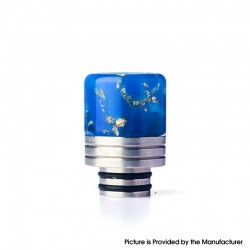 Authentic REEWAPE AS319 510 Drip Tip for RDA / RTA / RDTA / Sub Ohm Tank Vape Atomizer - Blue Gold, Resin & SS, 20mm