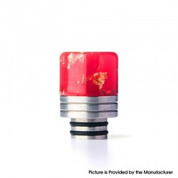 Authentic REEWAPE AS319 510 Drip Tip for RDA / RTA / RDTA / Sub Ohm Tank Vape Atomizer - Red Gold, Resin & SS, 20mm