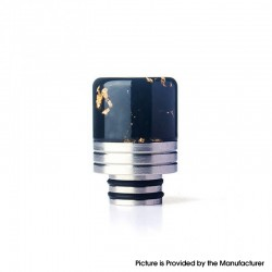 Authentic REEWAPE AS319 510 Drip Tip for RDA / RTA / RDTA / Sub Ohm Tank Vape Atomizer - Black Gold, Resin & SS, 20mm