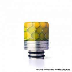 Authentic REEWAPE AS319S 510 Drip Tip for RDA / RTA / RDTA / Sub Ohm Tank Vape Atomizer - Yellow, Resin & SS, 20mm